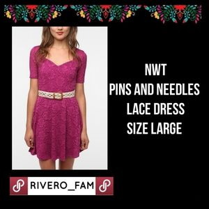NWT | PINS AND NEEDLES | LACE DRESS